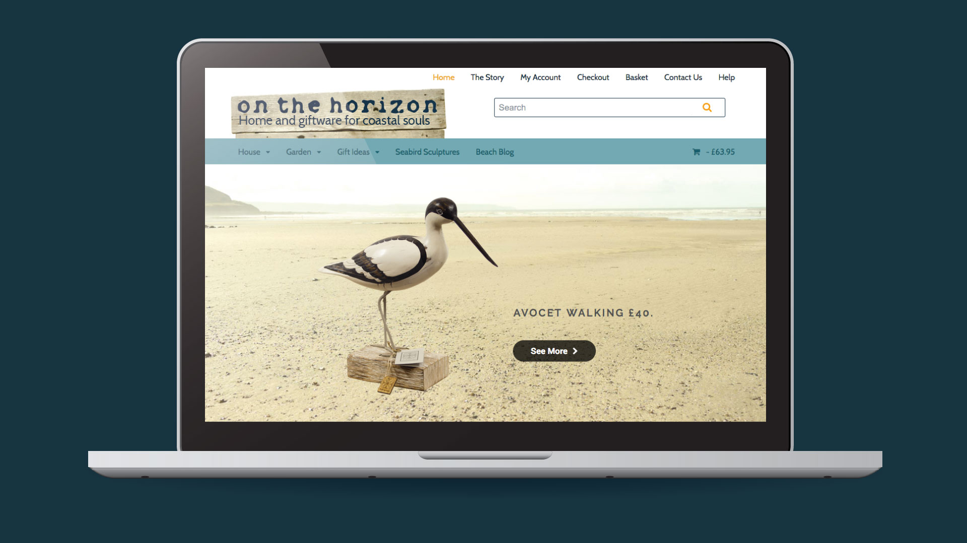 On The Horizon ecommerce website design in Devon