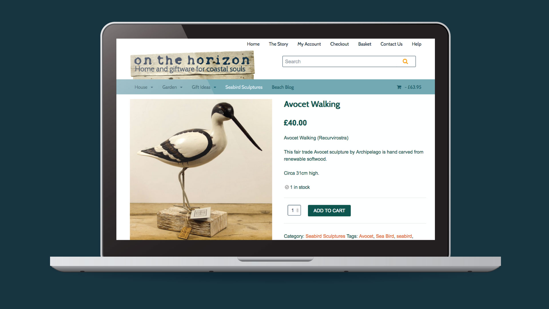 On The Horizon mobile fiendly e-commerce website design in Devon